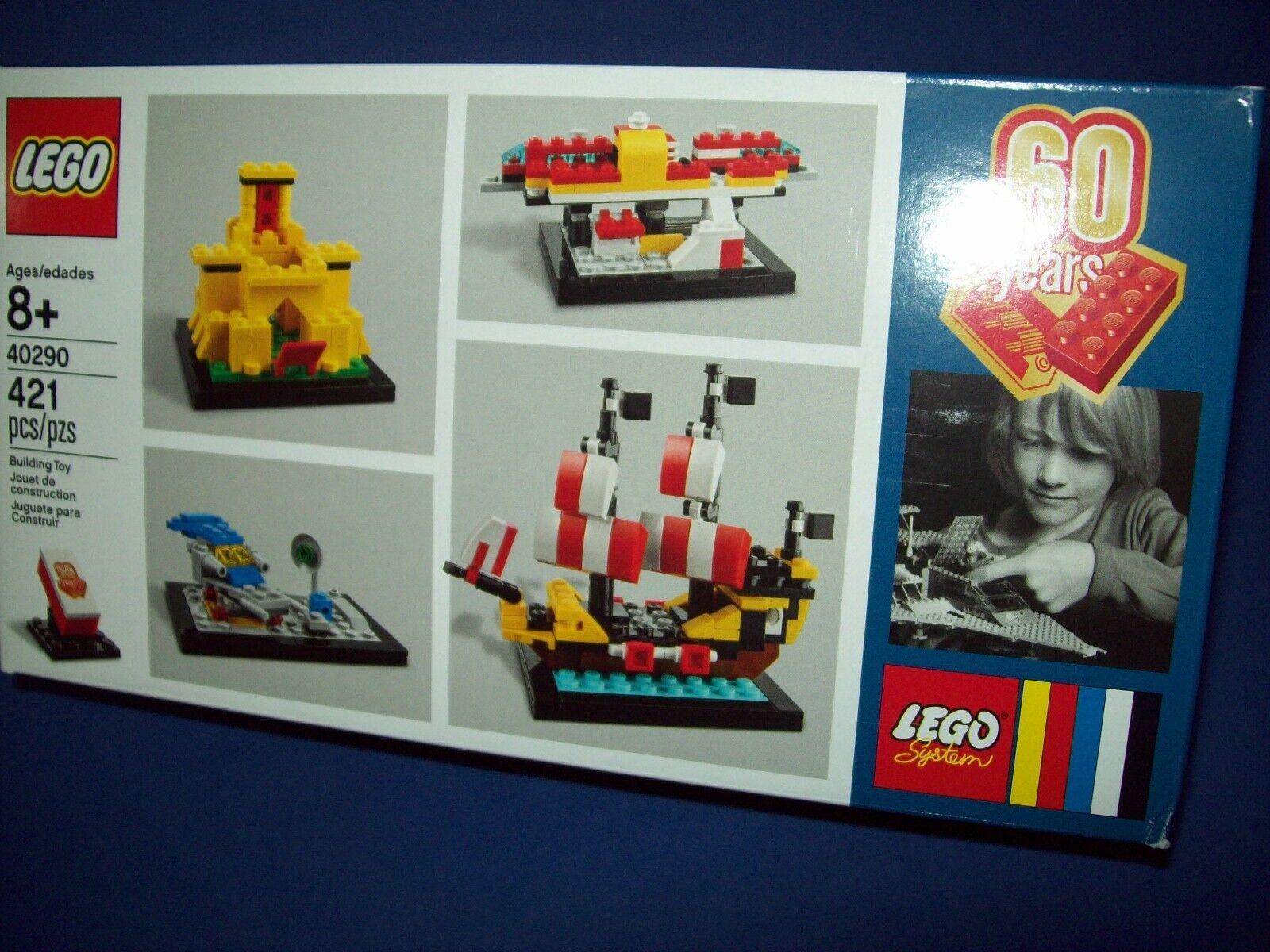 Lego 40290 60th Anniversary Set Castle Space Ship NIB