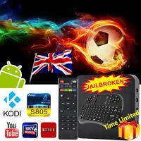 8G MX PRO Smart Android TV Box Keyboard Quad Core KODI XBMC Fully Loaded Sports