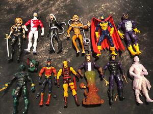 Marvel Legends Figure Loose Lot Of 12 (ToyBiz/Hasbro Avengers X-men) Lot