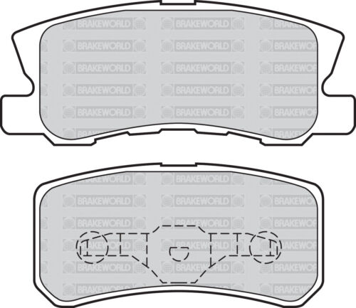 OEM SPEC FRONT AND REAR DISCS PADS FOR MITSUBISHI OUTLANDER 2.0 TD 2007-10