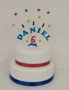 Image Is Loading Tennis Personalised Sports Birthday Cake Topper Cricket Football