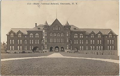 New York Ny Real Photo Rppc Postcard 1915 Oneonta State Normal
