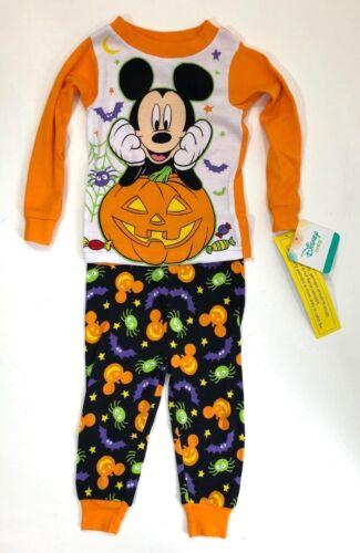 Disney Mickey Mouse Halloween Pajamas Two Piece Glow in the Dark Cotton Kids PJs
