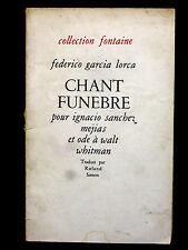CHANT FUNÈBRE pour IGNACIO SANCHEZ MEJIAS - FEDERICO GARCIA LORCA - 1945