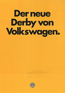 VW-Derby-Prospekt-9-81-1981-Autoprospekt-Broschuere-brochure-brosjyre-broschyr