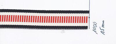 Ordensband Rettungsmedaille 15mm 10cm lang m30,00 1037