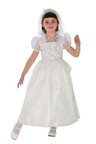 Sparkle Winter Princess Bride Flower Girl Girls Halloween Costume