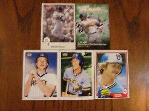 Baseball Card Player Lot Of 5 Cards Robin Yount Milwaukee Brewers