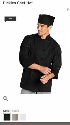 Dickies Chef Beanie Black DC59 BLK SHEF HAT UNISEX-BLACK-WHITE-BLACK/&WHITE