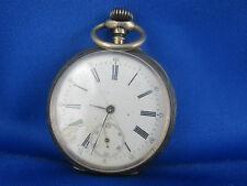 ancienne grosse montre a gousset en argent chronometre suisse 10 rubis
