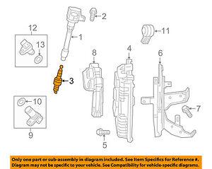 honda oem 15-16 fit 1.5l-l4 ignition-spark plug 122905r0003   ebay  ebay
