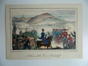 Incisione Guerra Di Crimea 1855 Attacco Alla Torre Malakoff Cassani Armanino