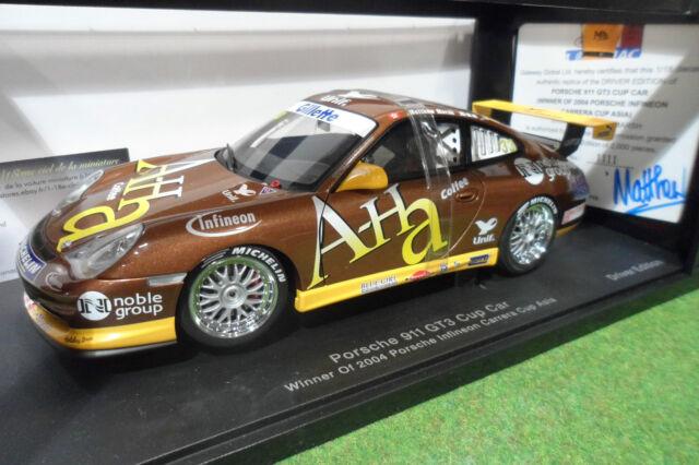 PORSCHE  911 996 GT3 #33 Cup Car Winner 2004 Carrera cup Asia 1/18 AUTOart 80489