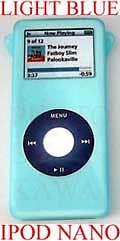 Light-BLUE-TOUGH-SKIN-COVER-CASE-for-IPOD-NANO-2GB-4GB