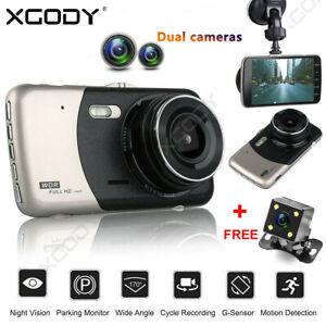 4-034-1080P-Coche-Vehiculo-DVR-Tablero-Camara-Doble-Lente-Video-Grabadora-G-Sensor
