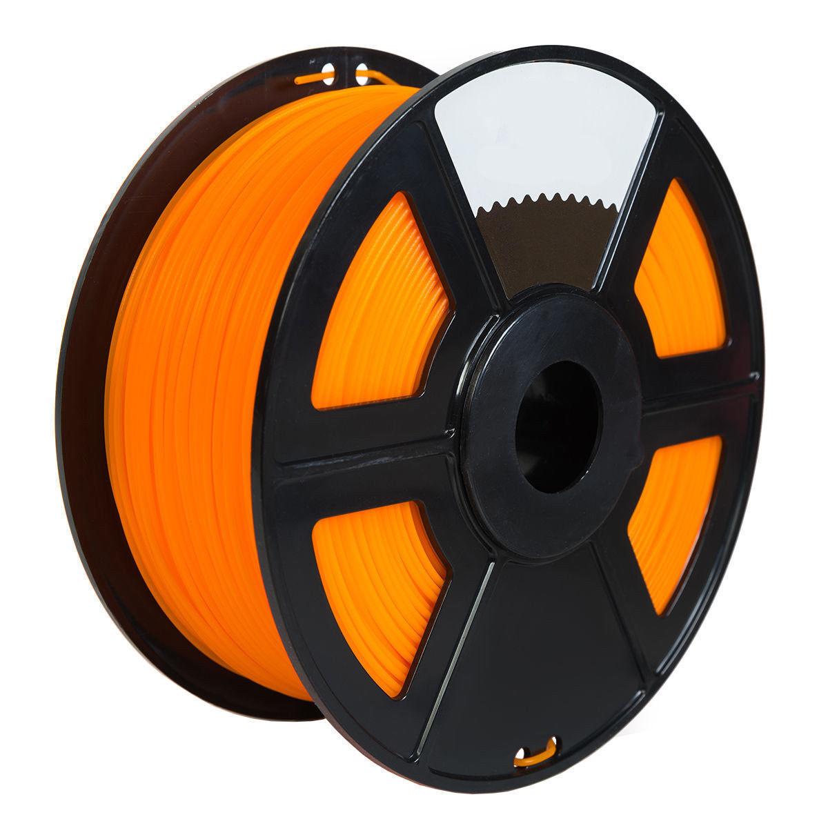 2PK Orange Color 3D Printer Filament 1.75mm 1KG PLA For Print MakerBot RepRap
