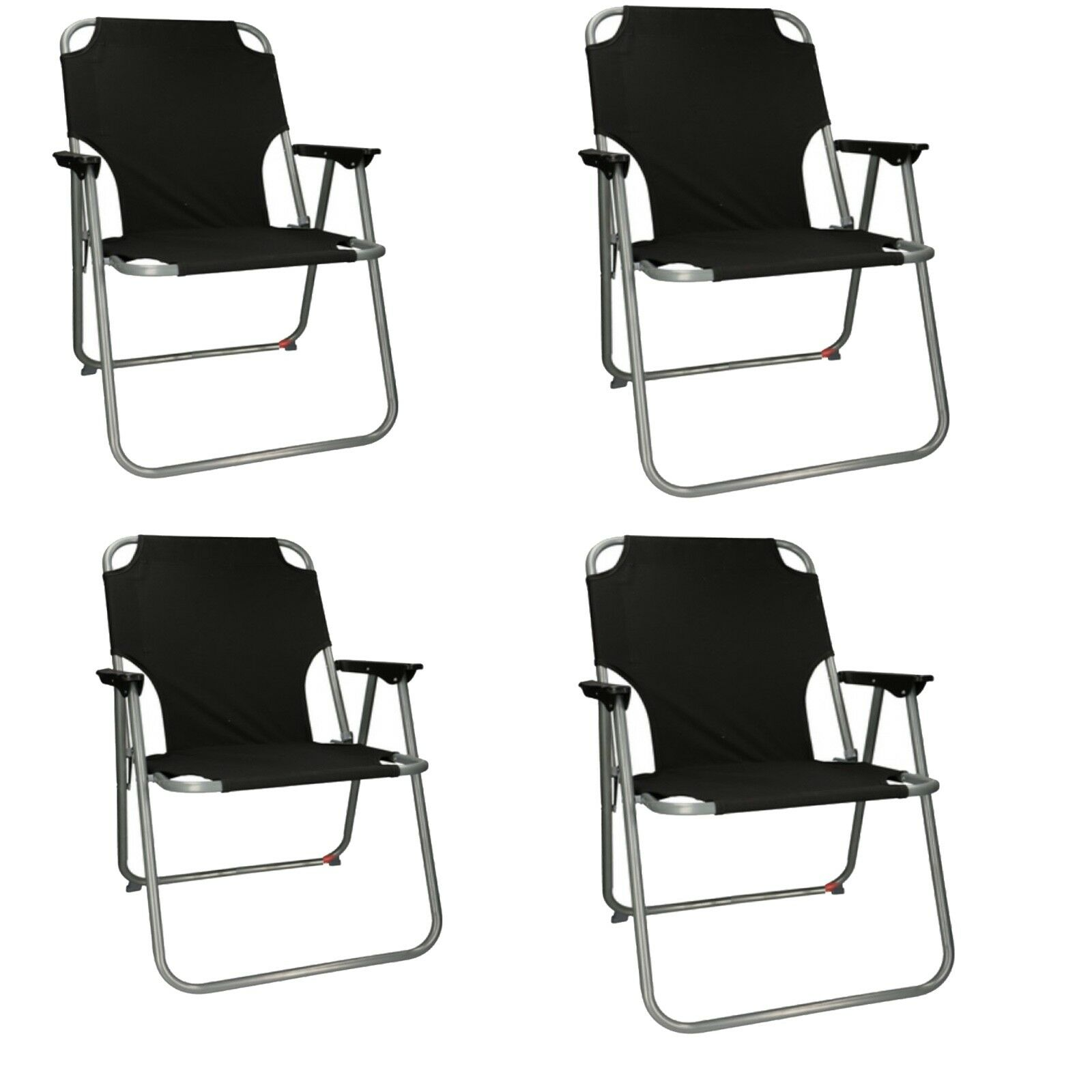 4x Outdoor Portable Folding Chair Camping Hiking Beach Seat Stool For BBQ Picnic