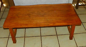 Solid Oak Ranch Style Coffee Table CT EBay - Ranch style table