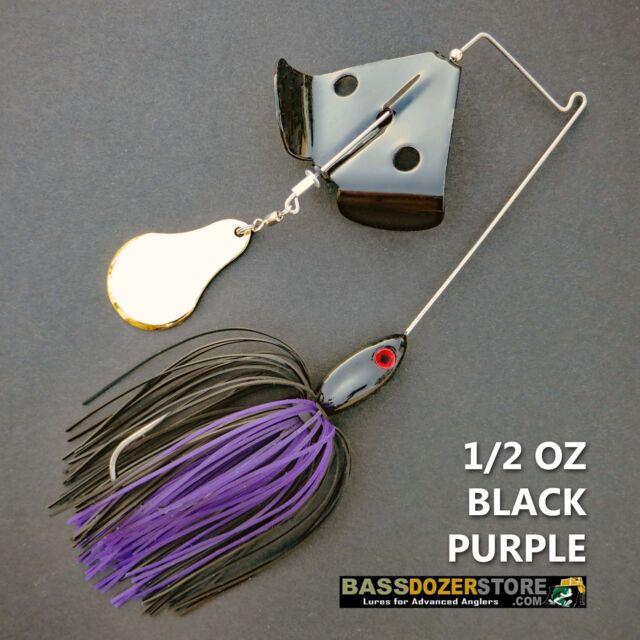 Buzzbait CHOPPER 1/2 oz BLACK PURPLE buzz bait buzzbaits. KVD trailer hook