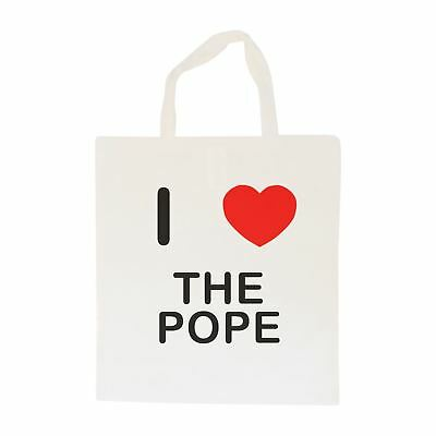 I Love The Pope - Cotton Bag | Size choice Tote, Shopper or Sling
