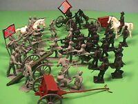 Americana Bmc Toys Plastic American Civil War Acw 50 Soldiers Bagged Set