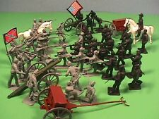 Americana BMC TOYS Plastic American Civil War ACW 50 Soldiers Bagged Set NEW!