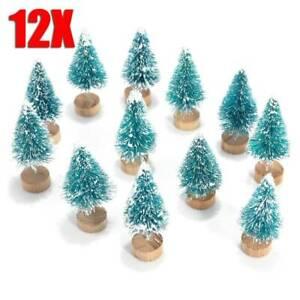 12Pcs-MINI-Sisal-BOTTIGLIA-Neve-Pennello-Frost-Alberi-di-Natale-per-Natale-Festa-Decor