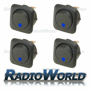 4x-Blue-LED-Illuminated-Rocker-Switch-On-Off-12v-25A-Car-Van-Dash-Light
