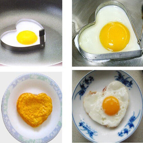 Stainless Steel Heart Shape Fried Egg Pancake Mould Mold Kitchen Cooking Tool
