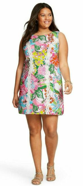 Lilly Pulitzer for Target Nosey Posie Sleeveless Round Neck Shift Mini  Dress 20w