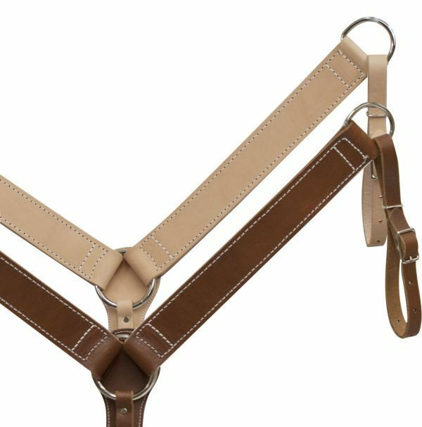American Made Durable Leather 2  Wide BREAST  COLLAR Made in the USA  fast shipping worldwide