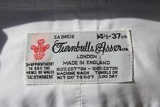 Turnbull & Asser 14.5/30 White Cotton LS Dress Shirt - England - $365.00