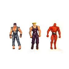 """4/""""  STRONG JAZWARES STREET FIGHTER RED SETH ACTION FIGURE"""