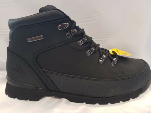 MENS LADIES GROUNDWORK  SAFETY STEEL TOE CAP WORK TRAINER SHOE BOOTS SIZE 3TO13