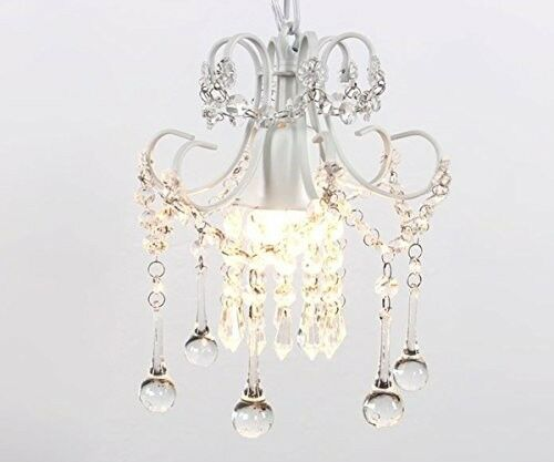 Crystal chandelier vintage lighting mini rustic ceiling pendant crystal chandelier vintage lighting mini rustic ceiling pendant light white 40w ebay mozeypictures Choice Image