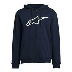ALPINESTARS-MENS-AGELESS-ZIP-HOOD-NAVY