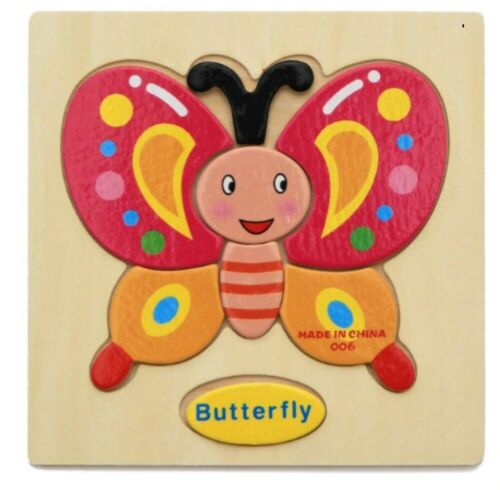 Details about  /3D Wooden Puzzle Jigsaw Toys For Children Wood 3d Cartoon Animal Puzzles Intelli