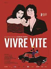 Affiche Pliée 40x60cm VIVRE VITE /DEPRISA DEPRISA 1981 Carlos Saura R2017 NEUVE