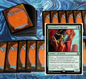 mtg-GREEN-1-1-DECK-Magic-the-Gathering-rare-60-cards-rishkar-hydra-rares
