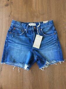 ba3643d5d27 Madewell high-rise denim boyshorts in glenoaks wash  cutoff edition ...