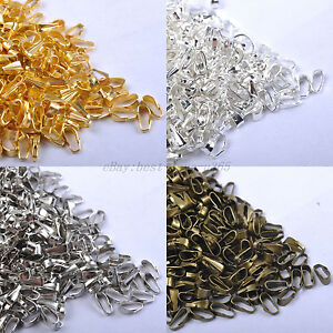 200pcs-SILVER-BRONZE-amp-GOLD-PLATED-amp-SPRING-BAILS-7MM-Pendant-Findings