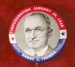 VINTAGE HARRY S. TRUMAN CAMPAIGN PIN
