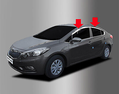 Chrome Window Visor Wind Rain Vent 4pcs 1set For 2012 Hyundai i40 Hatchback 5d