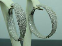 Turkish Handmade Jewelry 925 Sterling Silver Zircon Stone Ladies' Earrings