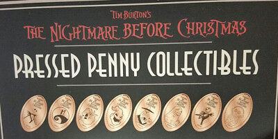 Nightmare Before Christmas Pressed Penny Set Of 8 Disney World Elongated WDW