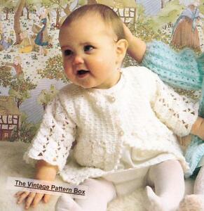 7627d1fa6428 LACY BABY MATINEE COAT - 3 to 6 months   8ply or DK - COPY crochet ...
