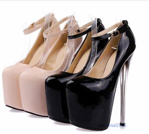 pumps High Schuhe Damen Mary Heels Riemchen Janes Plateau Brautschuhe Stilettos w0PwqIx6H