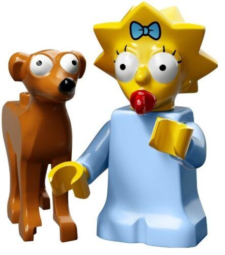 MAGGIE WITH SANTA/'S LITTLE HELPER DOG LEGO Simpsons Series 2 71009 MINIFIGURE