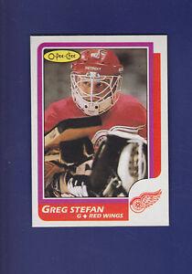 Greg-Stefan-1986-87-O-PEE-CHEE-OPC-Hockey-51-MINT-Detroit-Red-Wings