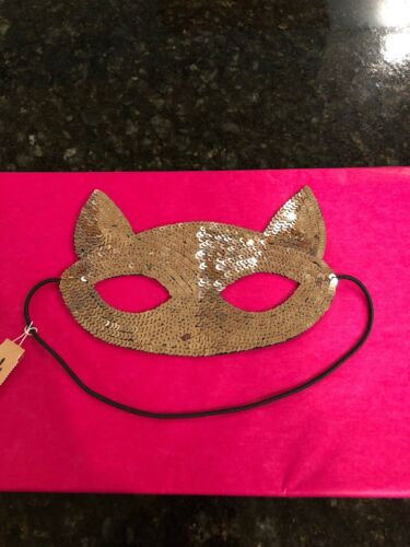 NWT American Eagle Outfitters Gold Sequin Cat Mask